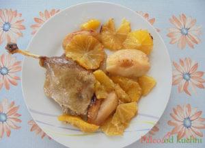 Kaczka pieczona z jabłkami i pomarańczami