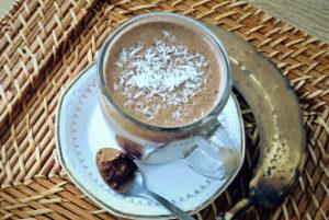 Bananowa gorąca czekolada